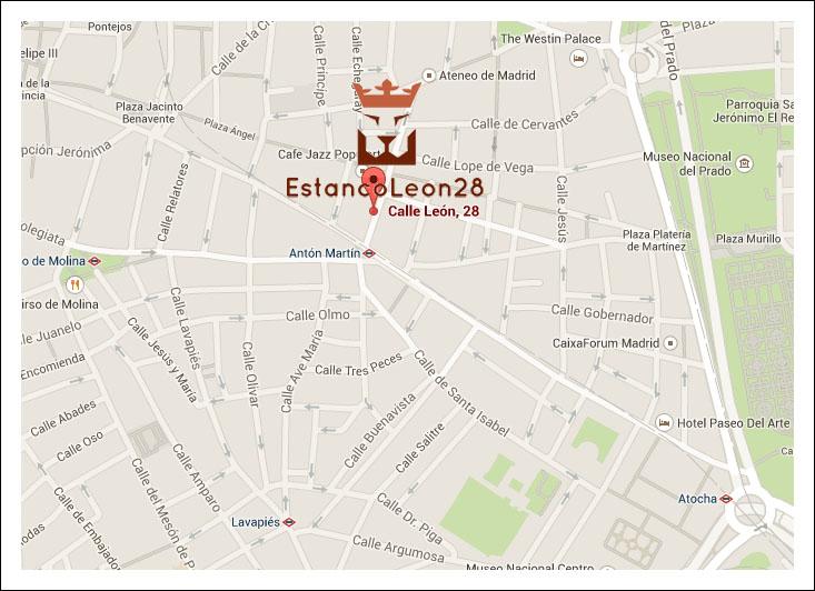 ESTANCO LEON28,EXPENDEDURIA 47 DE MADRID,DESDE 1897 EN EL BARRIO DE LAS LETRAS
