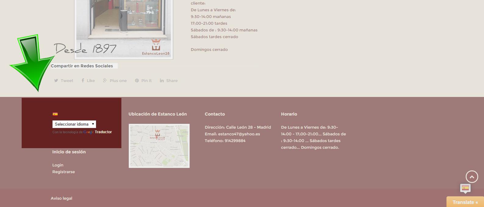 Nuestra web en cualquier idioma